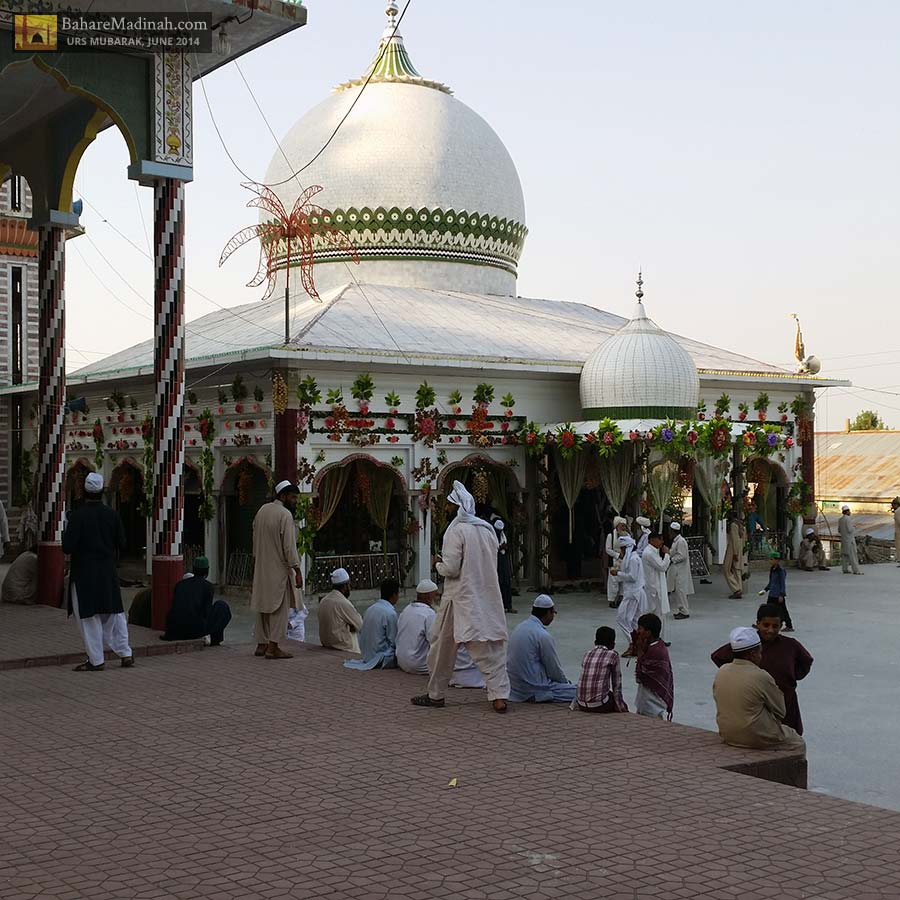 Darbar Nerian Sharif in the glowing sun